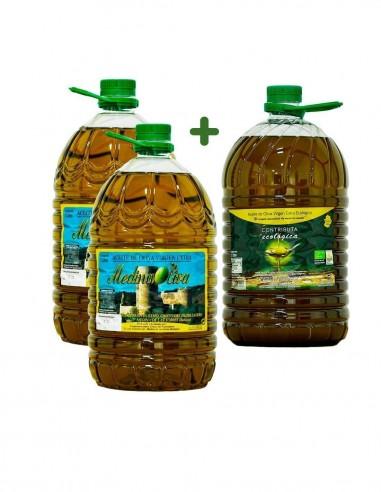 Aceite de Oliva Pack 3ud 5L (2 Virgen...