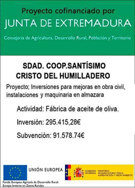 Proyecto cofinanciado por la Junta de Extremadura